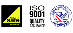 Kent Catering Accreditations - Gas Safe - ISO 9001 Quality Assurance - Safe Contractor Approved